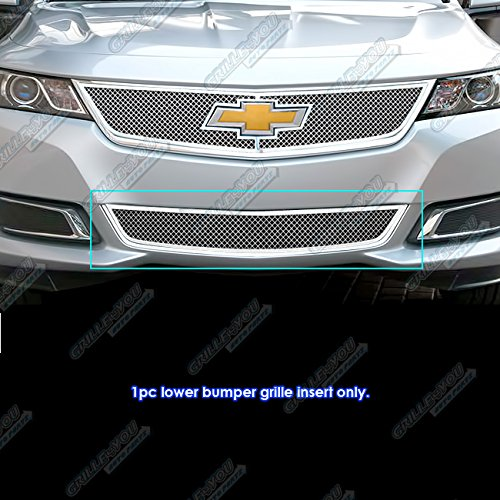 APS Compatible with 2014-2019 Chevy Impala Stainless Lower Bumper Mesh Grille Insert C75946T