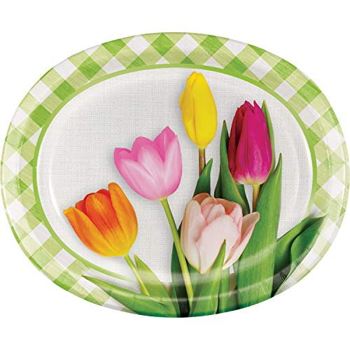 Spring Tulips Oval Plates, 24 -