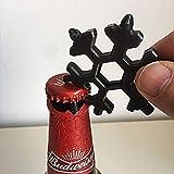 Amenitee 18 In 1 Incredible Tool – Easy N Genius - FEX 18-in-1 Stainless Steel Snowflakes Multi-Tool (Black)