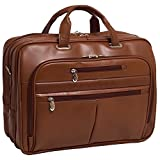 McKlein USA ROCKFORD R Series Leather Fly-Through 17'' Briefcase in Brown 86514
