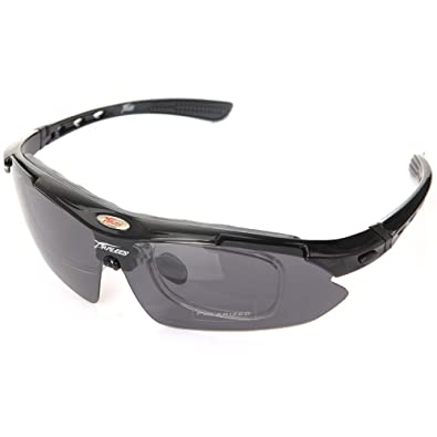 9f5e1560f5 Panlees Cycling Wrap Running Outdoor Sports Sunglasses Multi Sport Glasses  Exchangeable 5 Lenses Unbreakable Polarized UV400  Amazon.co.uk  Shoes    Bags