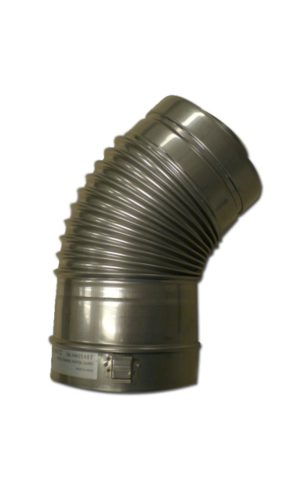 Noritz CVP-45ELB Concentric 45-Degree, Stainless Steel Venting