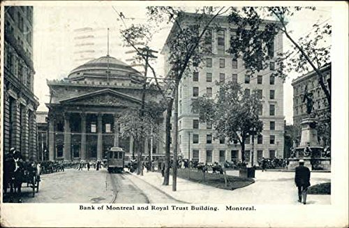 Bank Of Montreal And Royal Trust Building Montreal  Canada Original Vintage Postcard
