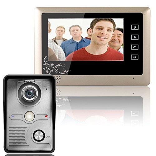Kit de sistema de intercomunicación para timbre de 7 puertas con videoportero para puerta de video de 1 cámara 1-Monitor de visión nocturna video porteiro apartamento LCD