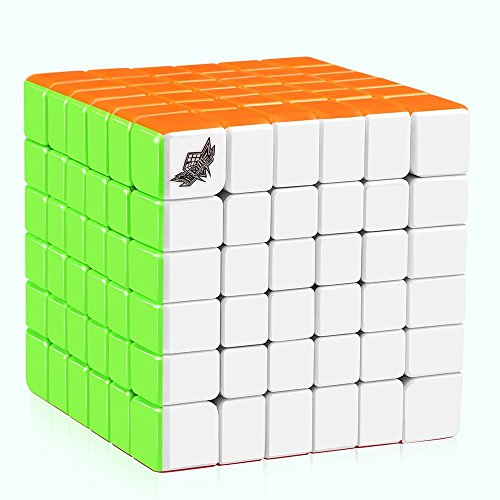 D-FantiX Cyclone Boys 6x6 Speed Cube Stickerless 6x6x6 Magic Cube Puzzles 68mm (G6 Version)