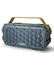 JONTER [M90], Bluetooth Speaker with Built in Subwoofer, Portable Waterproof Bluetooth Speakers, Wireless Outdoor Design, IPX5 Water Resistant-Rugged