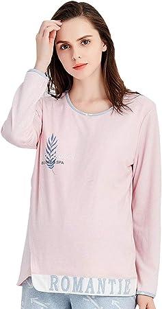 Pijamas Pijamas de Maternidad para Mujer Algodón O-Cuello camisón ...