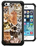 Corpcase - Hybrid Case for iPhone 5C - The Cat Collage Cats/Unique Case With Great Protection