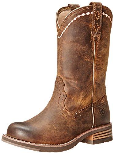 Ariat Kvinna Ohämmad Roper Western Cowboy Boot Nödställda Brun