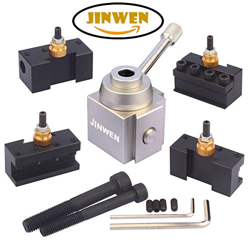 Jinwen 120034 Tooling Package Mini Lathe Quick Change Tool Post & Holders Multifid Tool Holder