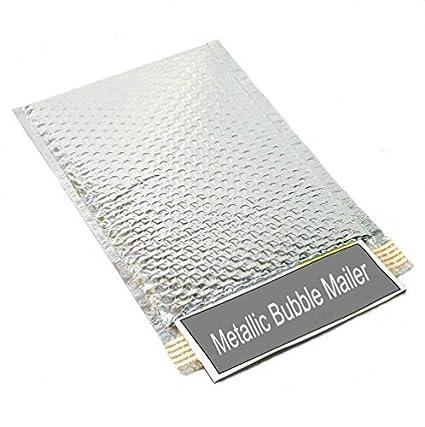 amazon com 9 x 11 5 silver metallic bubble mailers padded self