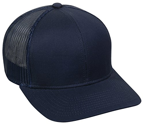Outdoor Cap Structured mesh Back Trucker Cap, Navy, One Size