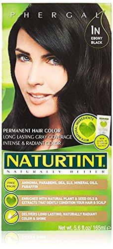 Naturtint - Permanent Hair Colorant - 1N Ebony Black, 5.6 Fl Oz (Packaging May Vary) ()