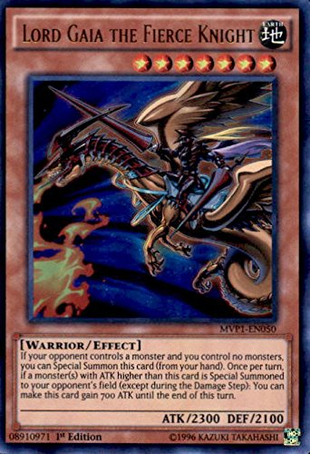 Yu Gi Oh Lord Gaia The Fierce Knight Mvp1 En050 The Dark Side Of Dimensions Movie Pack 1st Edition Ultra Rare