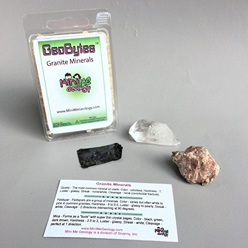 Mini Me Geology GeoBytes Granite Minerals Kit for Kids and Collectors