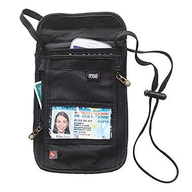 Lewis N. Clark RFID-Blocking Neck Stash Anti-Theft Hidden Wallet, Black, One Size