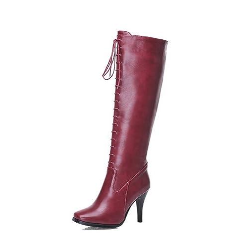 A&N - Botas Chukka mujer , color rojo, talla 39