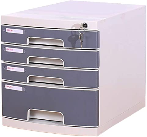 in plastica QSJY File Cabinets Armadi archivio Armadietto Porta Documenti Colore : A cassetto Estraibile da Tavolo con Chiusura a Chiave Organizer per Ufficio