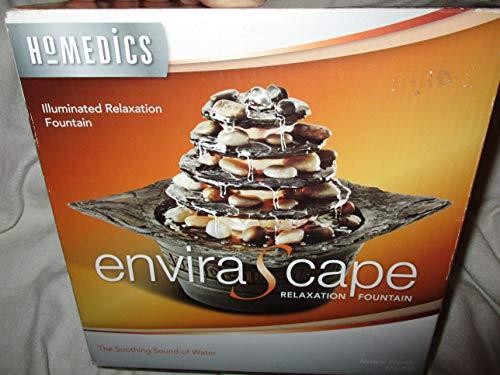 Envirascape Illuminated Rock - Natural Pagoda EnviraScape Illuminated Relaxation Water Fountain