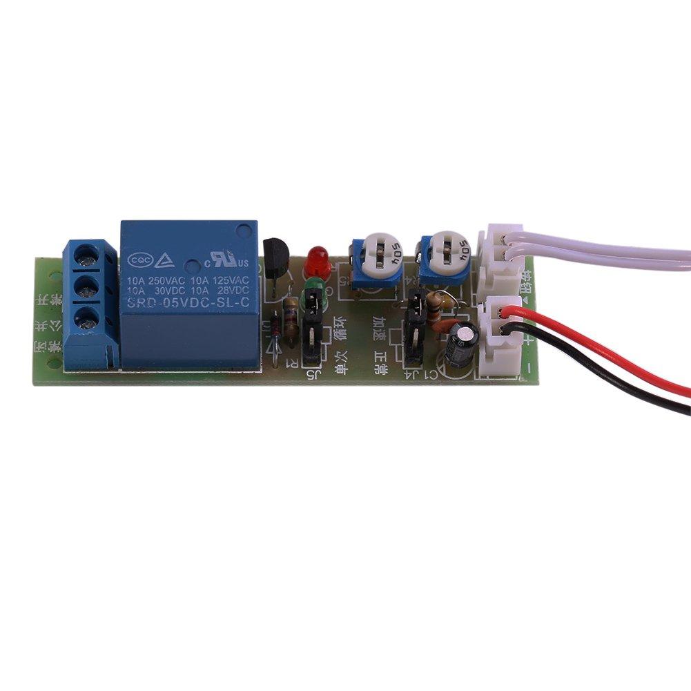 DC5V/12V/24V Infinite Cycle Delay Timer Timing Switch Relay Turn ON OFF Module 0-15min/0-60min Adjustable(DC5V 0-60min Adjustable)