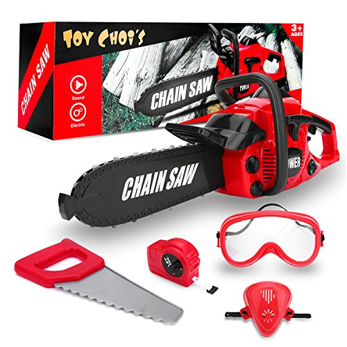 stem toys for 1 year old STEM Kids Tools Set, Toy Choi's Battery Operated Chainsaw Toy Tool Set