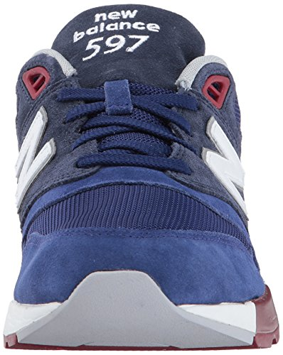 New Balance Men's 597 Low-Top Sneakers, Red/Black/White Blau