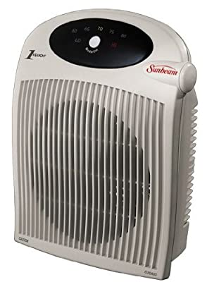 SUNBEAM Fan Heater, 1 Touch Electric Thermostat,alci Plug