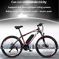 GASLIKE Electric Bike for Adults 26″ 250W Electric Bicycle for Man Women High Speed Brushless Gear Motor 21-Speed Gear Speed E-Bike,Blue Cycling [tag]