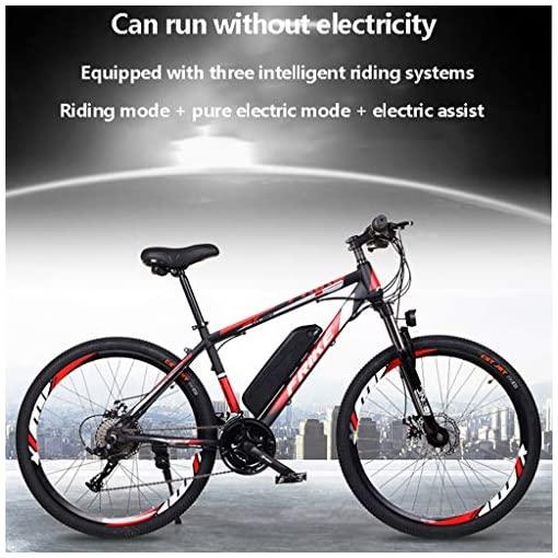 GASLIKE Electric Bike for Adults 26″ 250W Electric Bicycle for Man Women High Speed Brushless Gear Motor 21-Speed Gear Speed E-Bike,Blue Bikes [tag]