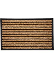Rubber Bordered Coir Doormat Stripes   Welcome Mat   Entry Mat  