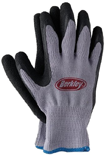 Berkley Coated Fishing Gloves, Blue/Grey Berkley Gear And Accessories