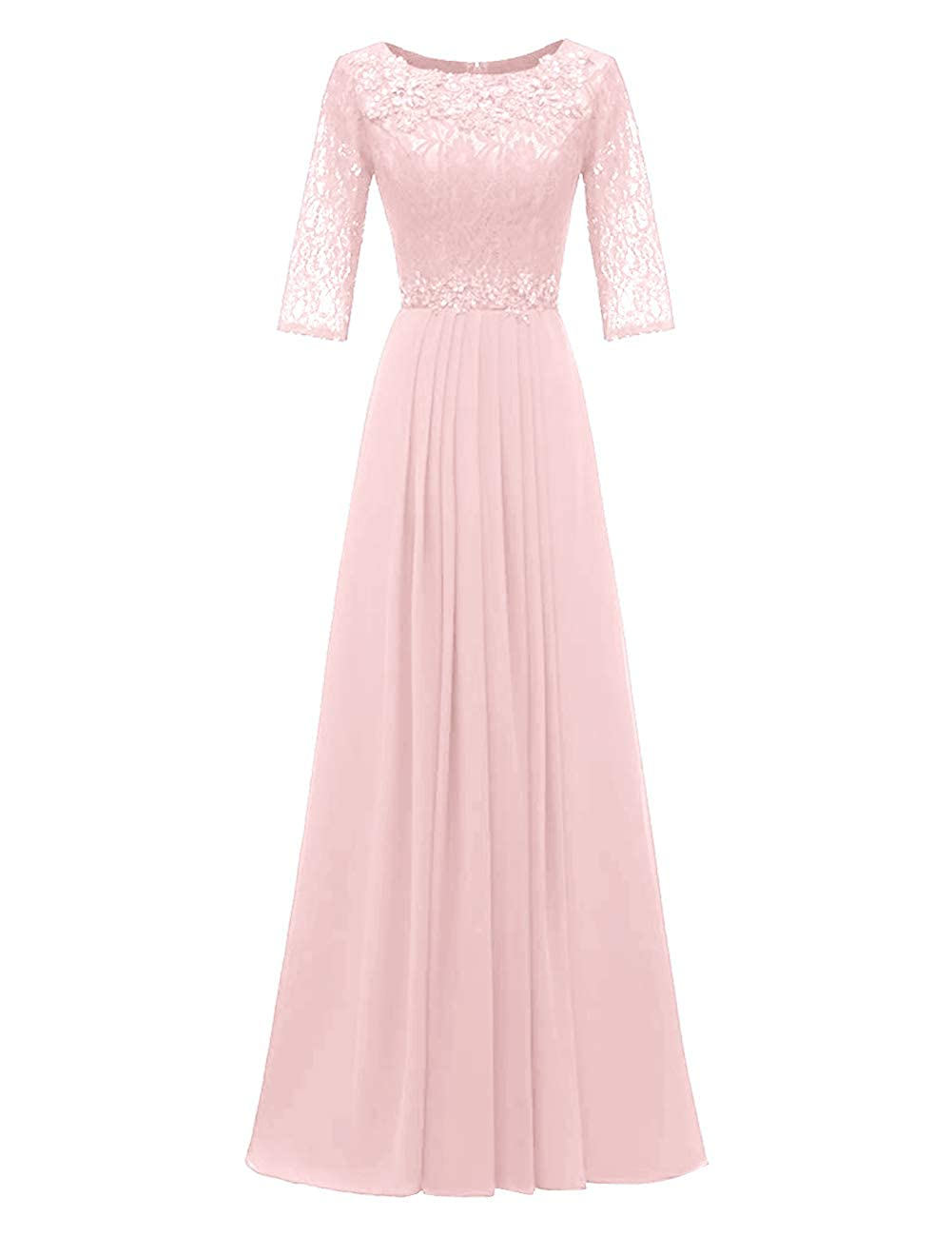 Light Pink H.S.D Evening Dresses Long Prom Dresses Lace Bridesmaid Dresses Evening Formal Gowns