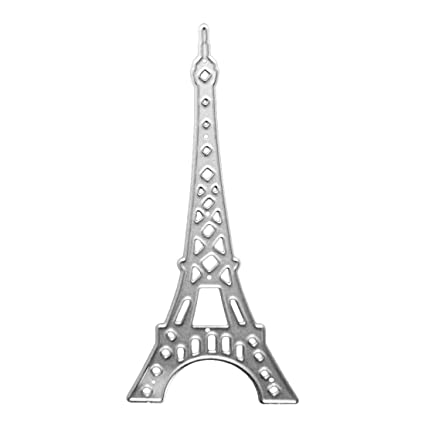 Amazon Com Eiffel Tower Cutting Dies Set Metal Stencil Template For