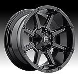 black 24 rims - Fuel D575 Coupler 20x10 8x165.1 -24mm Gloss Black Wheel Rim
