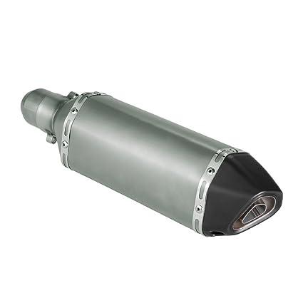Autocollant Akrapovic Plaque Aluminium Semi Rigide pour Pot Dechappement Haute Temp/érature 180/ºC Vinyle Haute Qualit/é Lamin/é