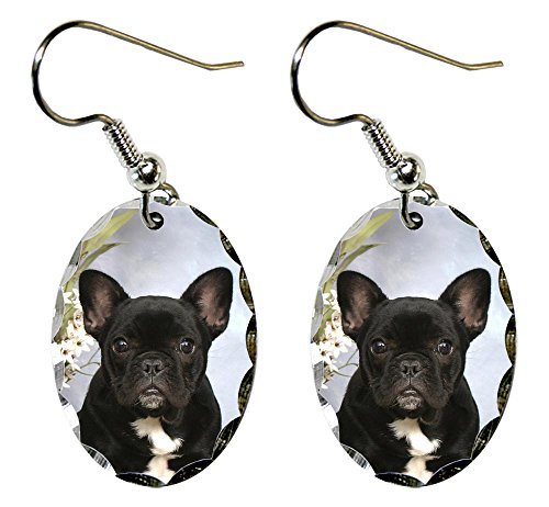 (Canine Designs French Bulldog Scalloped Edge Oval)