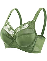 2dbece9a23f50 Bra Brassiere Plus Size Full Coverage Unlined Underwire · AooToo