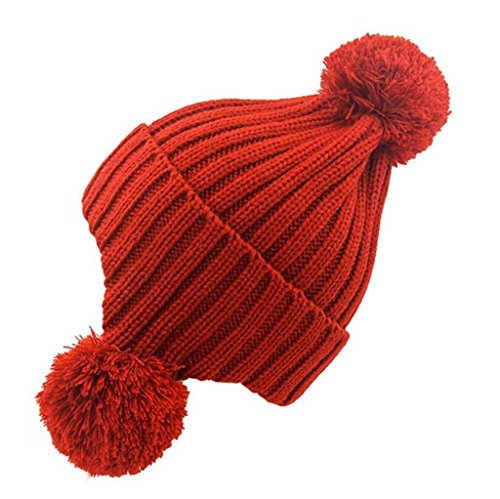 ZHAS Bola de pelo proteger el oído Cálido gorro de punto, Exterior Moda Sombrero peludas red