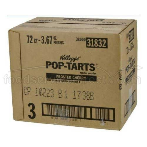 Frosted Cherry Pop Tarts 12 Case 6/144 Count by Kellogg's by Kellogg's
