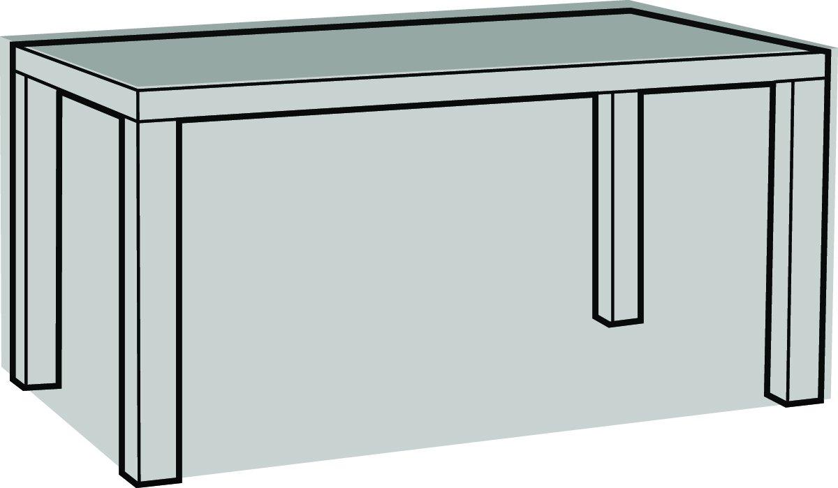 Eigbrecht 240169 Robusta Abdeckhaube Schutzhülle mit Abhang für Tischplatten rechteckig grau 160x95x70cm