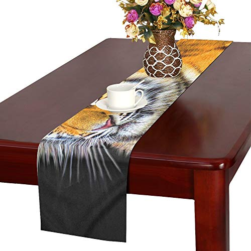 WBSNDB Tiger Cub Animal Mammal Predator Wildlife Wild Table Runner, Kitchen Dining Table Runner 16 X 72 Inch for Dinner Parties, Events, Decor by WBSNDB