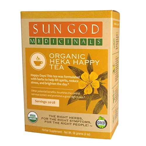 Heka Happy Loose Leaf Herbal Tea, Organic, 2 oz, 18-24 servings (Damiana Leaves)