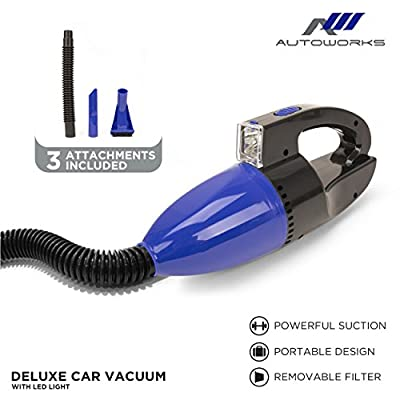 AutoWorks Handheld Car Vacuum Cleaner with LED: Home & Kitchen