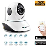 Wireless WiFi Security Camera System 1080P HD Pan Tilt IP Network Surveillance Webcam,Day Night Vision,Baby Monitor,Two-Way Audio,Built-in Microphone,SD Card Slot(128GB),Motion Detection Review