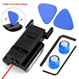 Lirisy Tactical Red Dot Laser Sight for Pistol Rifle with 20mm Picatinny Weaver Rail Mount
