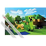 Poster + Hanger: Minecraft Poster (36x24 inches) Ocelot Chase And 1 Set Of Transparent 1art1® Poster Hangers