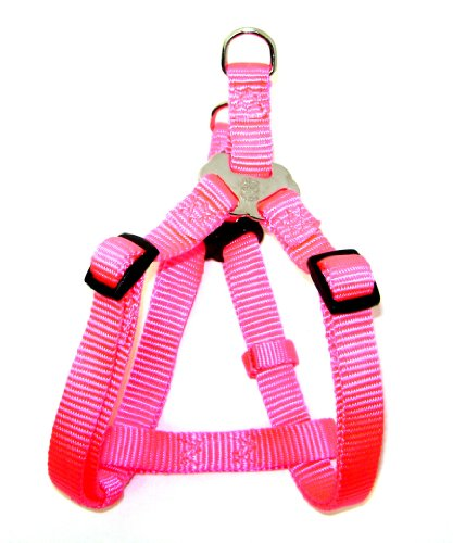 Hamilton Adjustable Easy-On Step-In Style Dog Harness, 1-Inch by 30-40-Inch, Large, Hot Pink