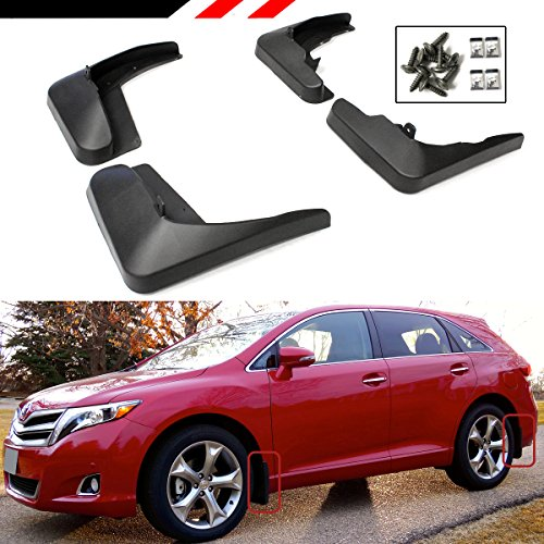Cuztom Tuning Fits for 2008-2016 Toyota Venza 4 Pieces Front + Rear Splash Guard Mud Flaps Set