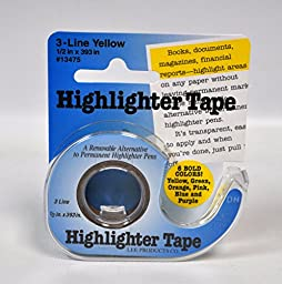 Removable Highlighter Tape Yellow