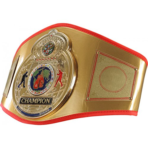 Costume Boxing Championship Belt (Flash Title Belt, Gold)